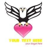 Eagle hjärta Fotografering för Bildbyråer