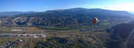 Eagle Hot Air Balloon Panorama Stock Photo