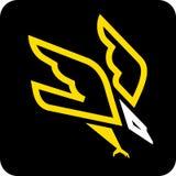 Eagle hunting. Vector illustration of eagle hunting Stock Photo