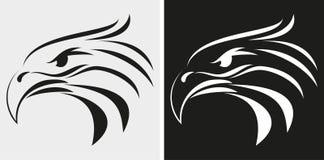 Eagle huvudsymbol vektor illustrationer