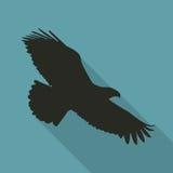 Eagle Icon dans la couleur noire dans une conception plate Illustration de vecteur Photographie stock libre de droits
