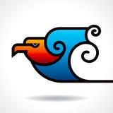 Eagle icon  in decorative design Stock Images