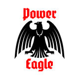 Eagle icon, imperial heraldic bird vector symbol Royalty Free Stock Photography
