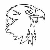 Eagle icon, outline style Stock Photo