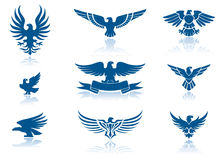 Eagle icons stock illustration
