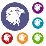 Eagle Icons Set Fotografía de archivo libre de regalías