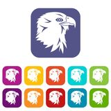 Eagle Icons Set Photographie stock libre de droits