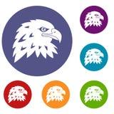 Eagle Icons Set Immagini Stock