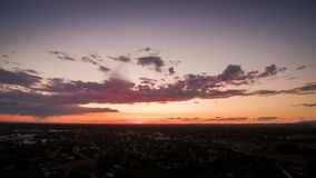Eagle, Idaho-Sommer-Sonnenuntergang Lizenzfreie Stockfotos