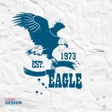 Eagle illustration, t-shirt graphics Stock Photography