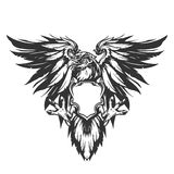 Eagle illustration royalty free illustration
