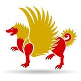 Eagle im alten Javanese Stockbild