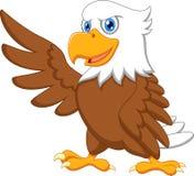 Eagle-Karikaturwellenartig bewegen Stockfotos