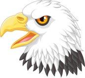 Eagle-Kopfmaskottchenkarikatur Stockbild