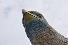 Eagle-Kopfskulptur Lizenzfreies Stockfoto