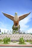 Eagle kwadrata statua symbol Langkawi wyspa Malezja Obraz Stock