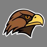 Eagle La cabeza de un ave rapaz ilustración del vector