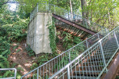 Eagle Landing Stairs 8 stock photography