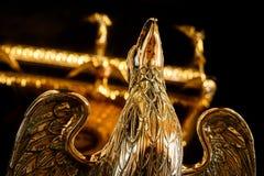 Eagle Lectern de oro en la abadía de Wymondham Foto de archivo