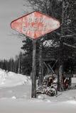 Eagle Lodge Sign rosso Fotografia Stock Libera da Diritti