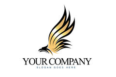 Eagle Logo. An illustration of a business company logo representing an abstract eagle Stock Photo