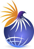 Eagle logo stock illustrationer