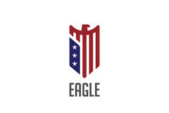 Eagle Logo abstract design vector Shield. Falcon. Eagle Logo abstract design vector template Shield shape Royalty Free Stock Images