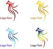 Eagle, logo abstrait de société avec la diverse couleur illustration de vecteur