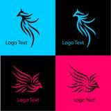 Eagle, logo astratto della società con vario stile Immagini Stock Libere da Diritti