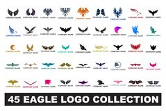 45 eagle logo collection vector illustration royalty free illustration