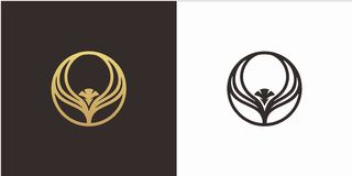 Eagle logo design concept with Luxury style logo template royalty free illustration