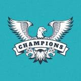 Eagle logo emblem template mascot Stock Photo