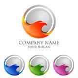Eagle-Logo emplate, Falke, Falkevektor-Logodesign Lizenzfreie Stockfotos