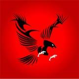 Eagle logo hök Stiliserade stora svarta Eagle stock illustrationer
