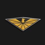 Eagle Logo Icon Design L'aigle stylisé répand ses ailes sur un bouclier Image libre de droits
