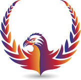 Eagle logo. Illustration art of a eagle logo with  background Royalty Free Stock Images
