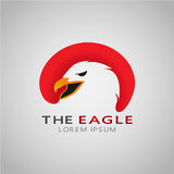 Eagle. Logo of an eagle that shows Eagle is a bird whose life is always covered by sunlight and Hull on the core of this animal is considered to have a divided Royalty Free Stock Image