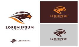 Eagle Logo Vector Illustration, logo de sport illustration libre de droits