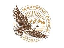 Eagle logo - vector illustration, emblem on white background. Eagle logo - vector illustration, emblem design on white background vector illustration
