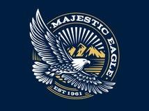 Eagle logo - wektorowa ilustracja, emblemat na ciemnym tle Obraz Stock