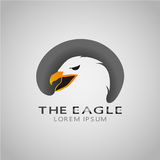 THE EAGLE LOREM IPSUM 2017 9. Logo of an eagle that shows Eagle is a bird whose life is always covered by sunlight and Hull on the core of this animal is Royalty Free Stock Photos
