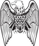Eagle with the lowered wings. Image format Royalty Free Illustration
