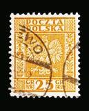 Eagle, manteau des bras du serie de la Pologne, vers 1932 Photos libres de droits