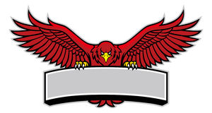 Eagle mascot grip the sign royalty free illustration