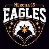 Eagle Mascot Grunge Emblem Template illustrazione di stock