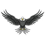 Eagle Mascot Spread The Wings. Vector Illustration Royalty Free Stock Photography