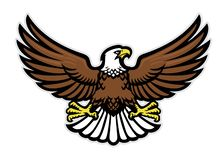 Eagle mascot spreading the wings. Vector of eagle mascot spreading the wings vector illustration