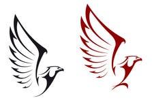 Eagle mascots. Eagles isolated on white background for mascot or emblem design Stock Image