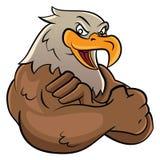 Eagle-mascotte royalty-vrije illustratie