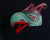 Eagle Mask. Hand Carved Northwest Native American Art stock photo
